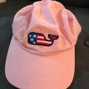 Vineyard Vines Pink Flag Whale hat